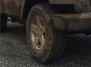 Jeep, 2015 Wrangler, stock rims and tires x4