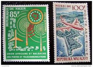 MADAGASCAR-timbre-stamp-yvert-et-tellier-aerien-n-87-NIGER-n-27-n