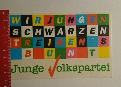 Aufkleber/Sticker: Junge Volkspartei wir jungen schwarzen treibens (07081611)
