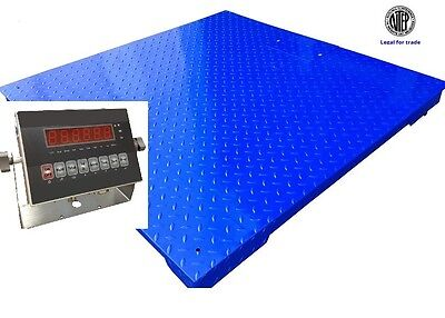 Floor Scale 48x48 Ntep Legal For Trade Heavy Duty 5000 X 1 Lb Indicatornew