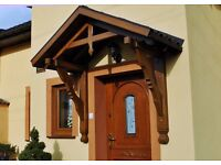 Apex Roof Porch, Wooden Front Door Canopy - Royal 2