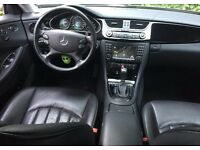 LHD LEFT HAND DRIVE MERCEDES-BENZ CLS 320 CDI V6AUTOMATIC FULLY LOADED LEATHER PIANO BLACK INTERIOR