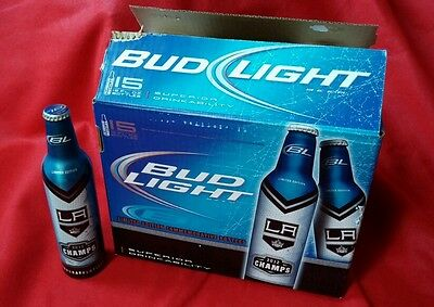 Used, Bud Light LA Kings 2012 Stanley Cup Champs Aluminum Beer Bottle + 15pk Box/Case! for sale  Cerritos