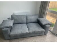 AUTOGRAPH 2 SEATER SOFA FULL BACK in GOLDEN SILVER MIX - Very Good Condition.