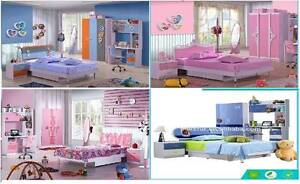 Brand new kids bedroom set pink or blue, desk wardrobe storage Casula Liverpool Area Preview