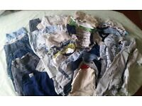55 items of 0 -3 baby boy clothing £10