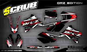 SCRUB Suzuki graphics decals kit DRz 400 E  SM 1999-2017 stickers enduro '99-'17