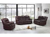 TAMARA 3 AND 2 SEATER PURE LEATHER RECLINER - 4 LEFT IN CLEARANCE