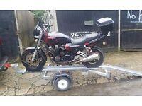 Single Motorbike Trailer. with ramp.