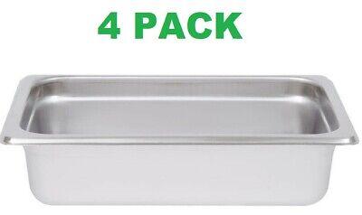 4 Pack 14 Size Stainless Steel 2 12 Deep Steam Prep Table Food Pan Salad Bar