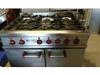6 burner comercial cooker