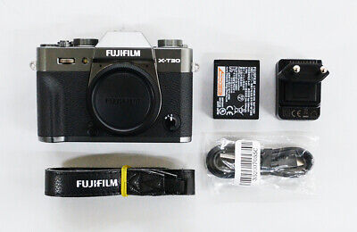 "# Fujifilm X-T30 26.1MP Mirrorless Camera - Charcoal Silver ""310 cut"" S/N 10254"