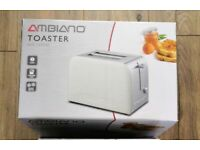 Ambiano Stainless Steel & Gloss Cream Toaster
