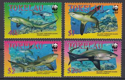 Tokelau Inseln (Islands) - Michel-Nr. 322-325 postfrisch/** (WWF Haie / Sharks)