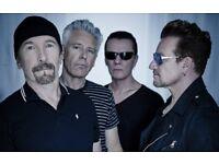 2 x U2 tickets manchester 20/10/18