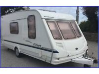 Swift Sterling 4 Berth Luxury Touring Caravan Ace Abbey Group With Full Awning.