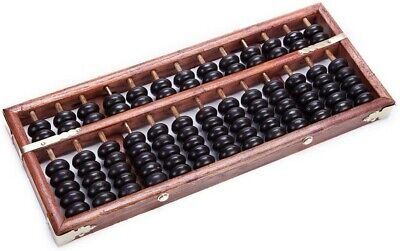 Vintage-Style 13 Digits Rods Wooden Abacus Chinese Calculator Tool