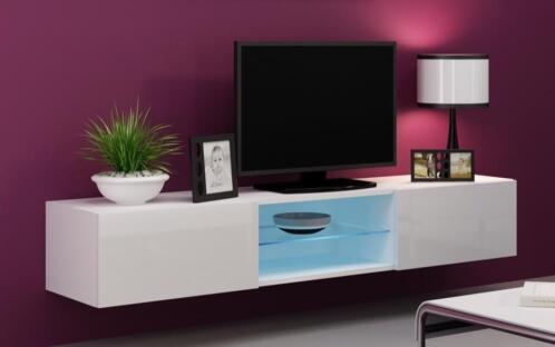 Verdi 10 Nieuw 180cm Zwevend Tv Meubel Tv Kast Hoogglans