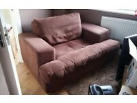 Two-seater love seat sofa