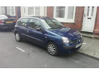 For sale Renault Clio 2003 1.2 16v MOT 2017 February Drive Away!