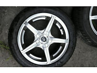 Quick Sale 4 stud Ace Alloys with new tyres
