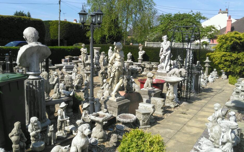 Stone concrete garden bird baths statues buddhas bench 39 s for Landscaping stones for sale near me