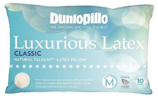 DUNLOPILLO Luxurious Talalay Latex Classic Medium Profile & Feel Pillow RRP $139