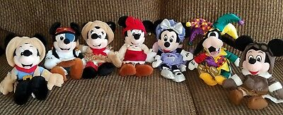 Lot Disney Beanie Baby Themed Costume Plush Mickey Kinney Goofy Pirate Jester (Baby Jester Costume)