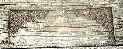"Set of 2 antique style Cast Iron Shelf Brackets - 4-1/2"" x 6-3/8"" #24"