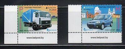 Belarus-MNH-complete set of 2-postal vehicles-2013 Sc #856-857