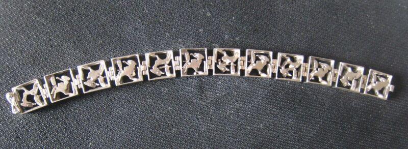 Finland .830 EUROPEAN Silver ANIMAL Bracelet - MODERNIST ABSTRACT Scandinavian