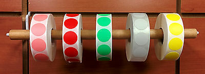 """5000 3/4"""" Self-Adhesive Price Dots Color Coding Labels - Dot Stickers ALL COLORS"""