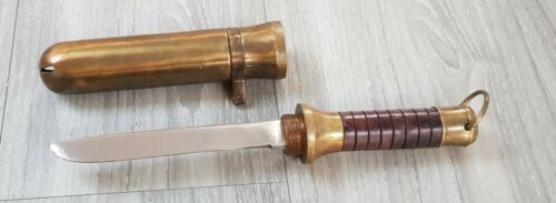 RUSSIAN Std Diving Helmet Knife Taucherhelm Messer Scaphandrier Casque Couteau a