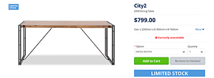Industrial-look Dinning Table (2m) Marsfield Ryde Area Preview