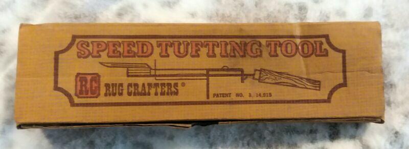 Vintage 1970s Rug Crafters Speed Tufting Tool Kit