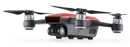 NEW *Fly More Combo* DJI Spark Quadcopter - Lava Red