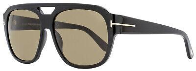 Tom Ford Square Sunglasses TF630 Bachardy-02 01J Shiny Black 61mm (Ford Sunglasses Tom Ford)