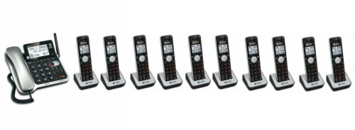 AT&T Corded Cordless Walkie-Talkie DECT 6.0 Cordless Phone System 10 Handsets