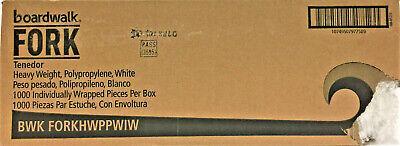 Boardwalk Heavyweight Wrapped Polypropylene Cutlery Fork White 1000carton
