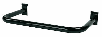 U-shaped Black Hangrail For Wire Grid - Black - For Grid Wall Or Slat Grid