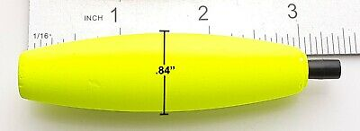 CLOSEOUT TORPEDO FLOATS 1//4oz DoubleX Rainbow Tackle clear orange pink chartreus
