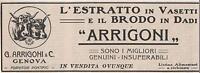 Pubblicità Vintage Arrigoni Brodo Genova Italian Food Advert Werbung Publicitè -  - ebay.it