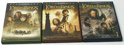 THE LORD OF THE RINGS TRILOGY DVD Set TESTED VG Condition FAST SHIP JRR Tolkien