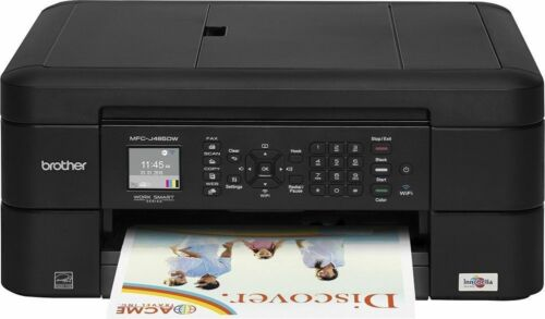Brother MFC-J485DW Wireless All-In-One Color Printer w/ Print, Scan, Fax, Copy