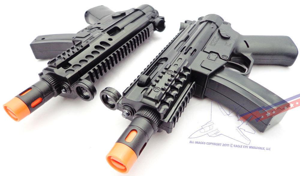 2X Toy Machine Guns Military MP5 Gun with Flashing Lights &