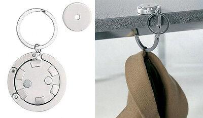 2 Stück Schlüsselanhänger Chiphalter + Taschenhalter incl. Metall Einkaufs Chip