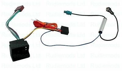 CT20VW03 Seat Leon Mk2 2005-2012 Radio ISO wiring adaptor and Aerial Adaptor