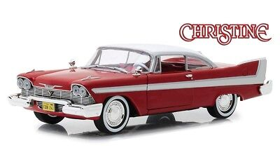 Car Movie Cars - Christine Movie 1958 Plymouth Fury Die-cast Car 1:24 Greenlight 8 inch 84071