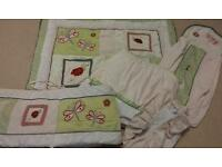 Beautiful baby bedding set for cot/ cotbed