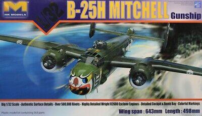 HK Models 1:32 B-25 H Mitchell Gunship Plastic Model Kit #01E03